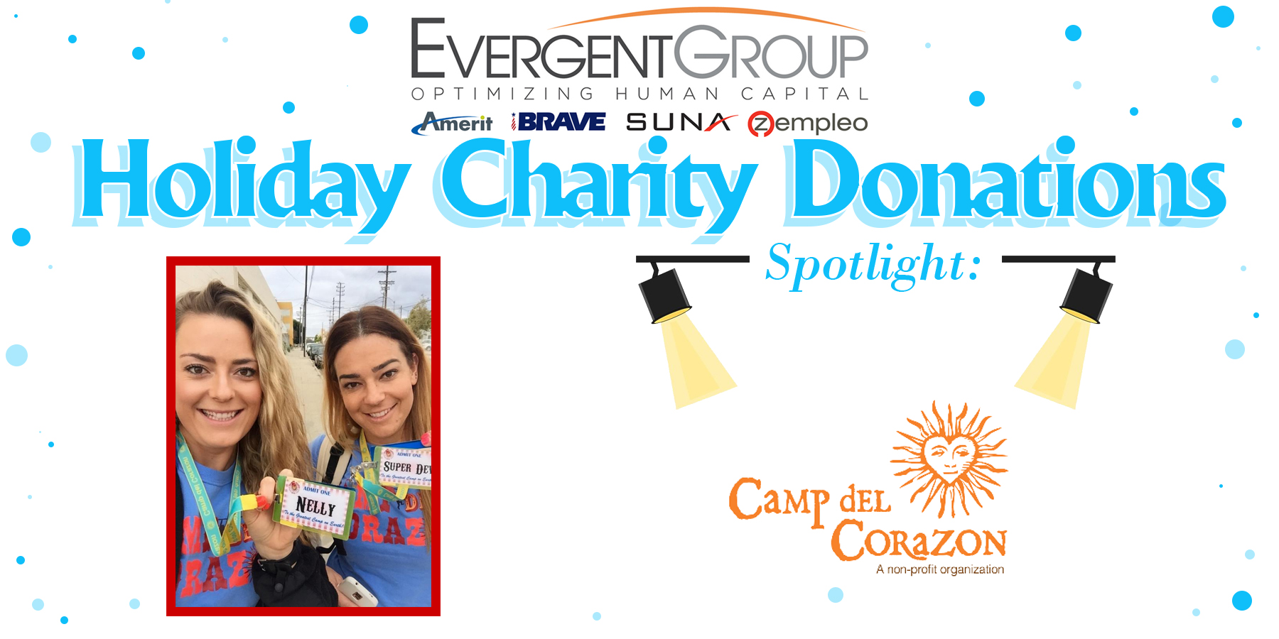 Holiday Chairty Donation Camp Del Corazon