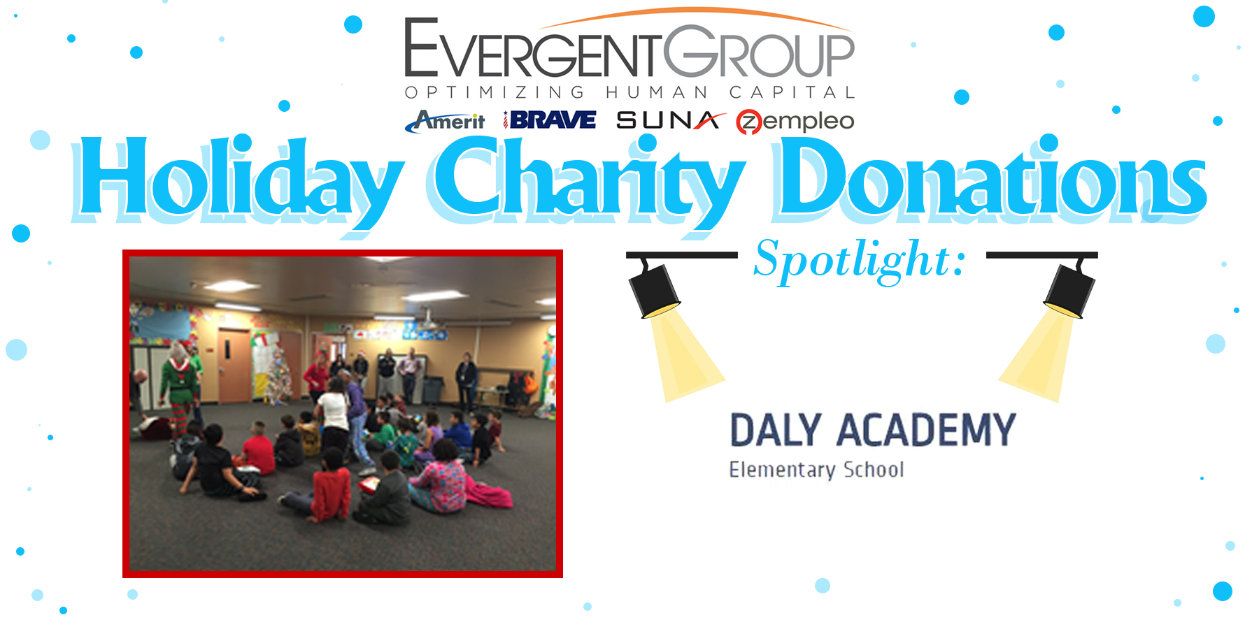 Holiday Chairty Donation Daly Academy